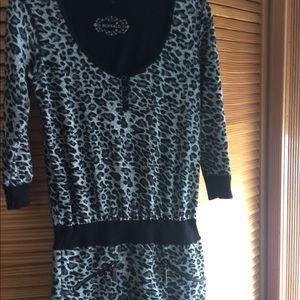 Buffalo leopard sweater